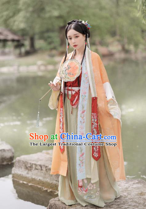 China Ancient Song Dynasty Princess Hanfu Dress Traditional Court Lady Historical Costumes