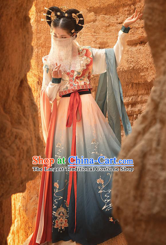 Traditional China Tang Dynasty Palace Lady Dance Hanfu Dress Ancient Court Princess Historical Clothing