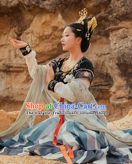 China Traditional Tang Dynasty Palace Lady Hanfu Dress Ancient Court Princess Historical Clothing Outfits