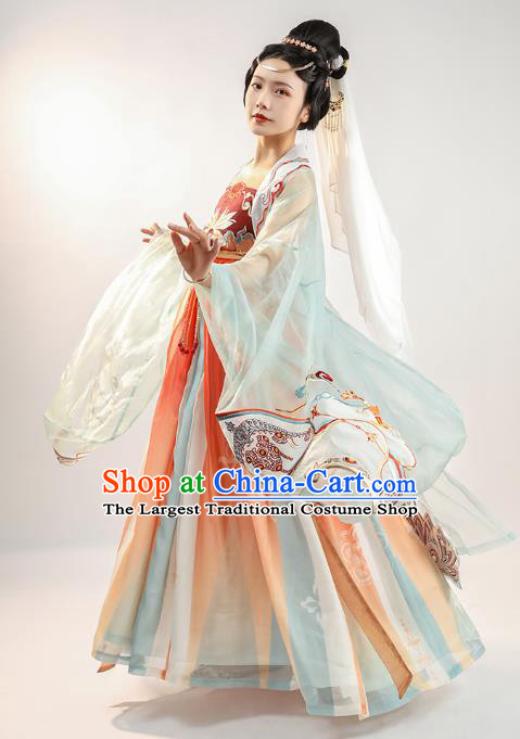 China Tang Dynasty Court Lady Hanfu Dress Traditional Ancient Royal Princess Historical Clothing