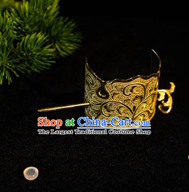 China Tang Dynasty Prince Hair Accessories Ancient Noble Childe Hairdo Crown for Men