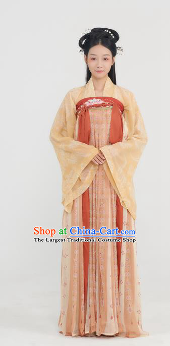 China Tang Dynasty Court Lady Historical Clothing Ancient Princess Garment Traditional Hanfu Dress