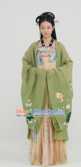 China Traditional Hanfu Dress Ancient Palace Lady Garment Tang Dynasty Royal Princess Historical Clothing