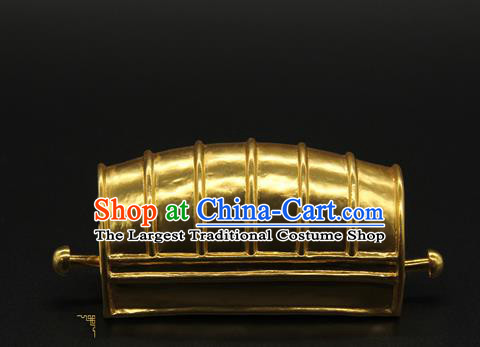 China Handmade Ming Dynasty Emperor Hair Accessories Ancient Crown Prince Hairpin Hairdo Crown