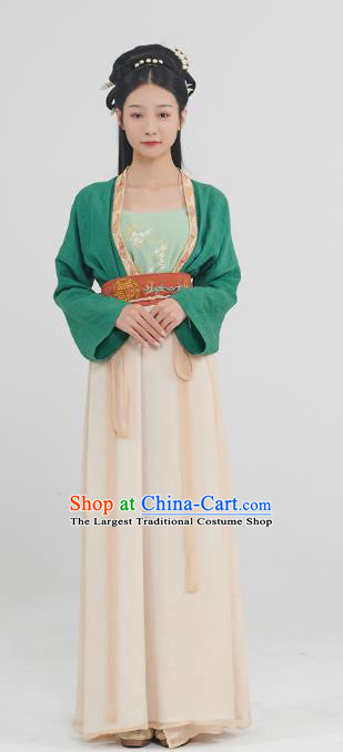 China Song Dynasty Servant Girl Historical Clothing Traditional Hanfu Dress Ancient Young Lady Garment