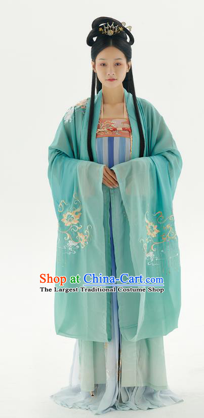 China Traditional Tang Dynasty Court Lady Hanfu Dress Historical Clothing Ancient Royal Princess Costumes