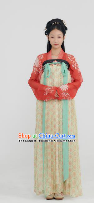 China Ancient Court Lady Hanfu Dress Traditional Tang Dynasty Noble Infanta Historical Clothing