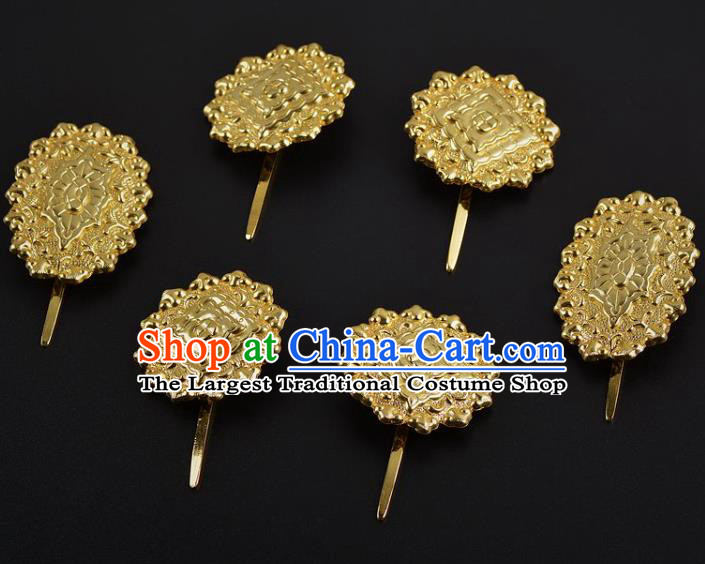 China Handmade Palace Hair Jewelry Ancient Empress Hairpins Traditional Tang Dynasty Hair Sticks Complete Set