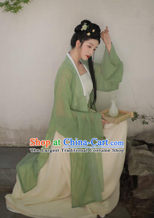 Ancient China Village Girl Historical Clothing Traditional Song Dynasty Country Woman Hanfu Dress Costume