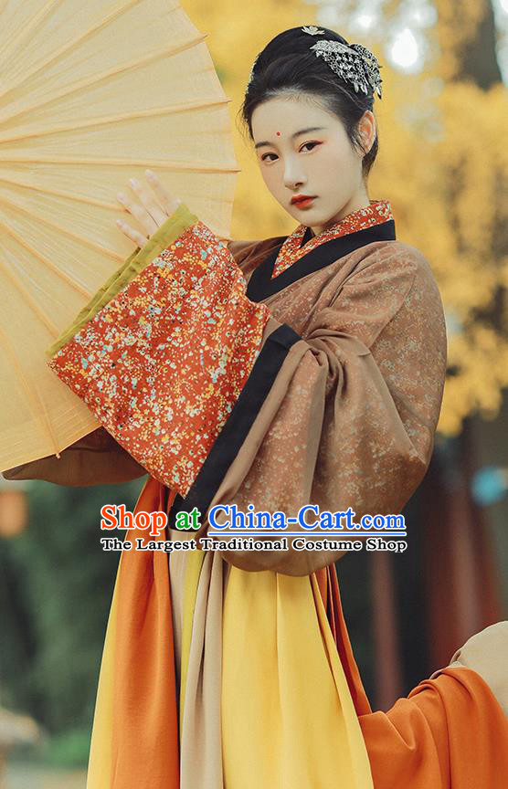 Ancient China Royal Infanta Hanfu Dress Costumes Traditional Jin Dynasty Palace Princess Historical Clothing Complete Set