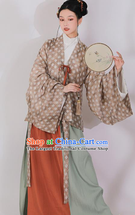 Ancient China Southern and Northern Dynasties Historical Costumes Traditional Jin Dynasty Court Woman Hanfu Clothing