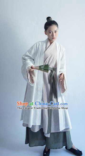 China Ancient Female Swordsman Hanfu Clothing Traditional Song Dynasty Historical Costumes Full Set