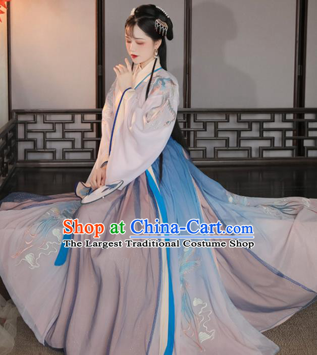 Ancient China Hanfu Dress Traditional Jin Dynasty Historical Clothing Court Lady Costumes