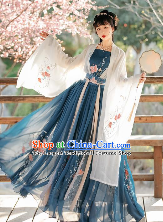 China Traditional Tang Dynasty Princess Historical Clothing Ancient Hanfu Dress Young Beauty Costumes