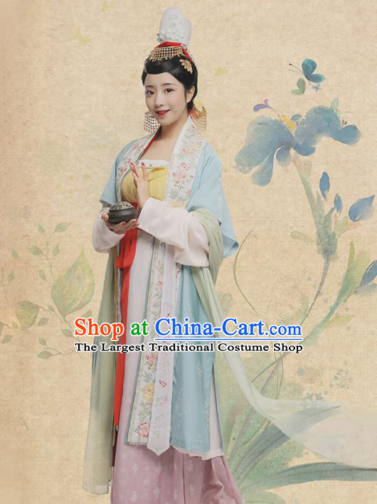 Chinese Ancient Countess Hua Rui Hanfu Dress Traditional Song Dynasty Royal Dowager Costumes for Women