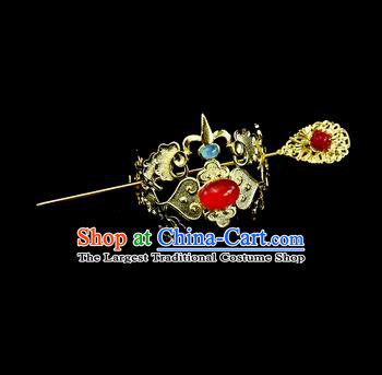 Chinese Drama Royal Prince Hair Crown and Hairpin Ancient Swordsman Hair Accessories for Men