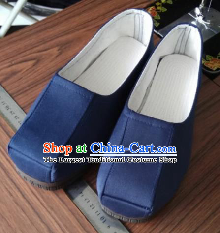 Chinese Kung Fu Shoes Navy Shoes Traditional Hanfu Shoes Opera Shoes for Men