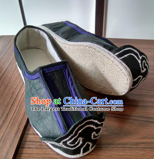 Chinese Kung Fu Shoes Black Cloth Shoes Traditional Hanfu Shoes Opera Shoes for Men
