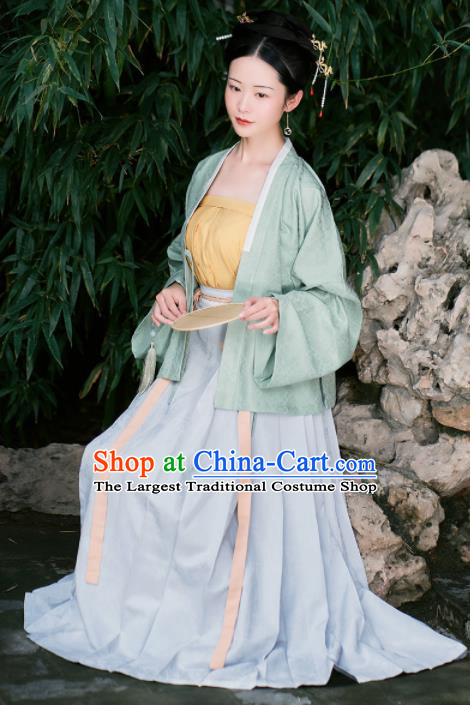 Chinese Ancient Female Civilian Dress Traditional Song Dynasty Nobility Concubine Costumes for Women