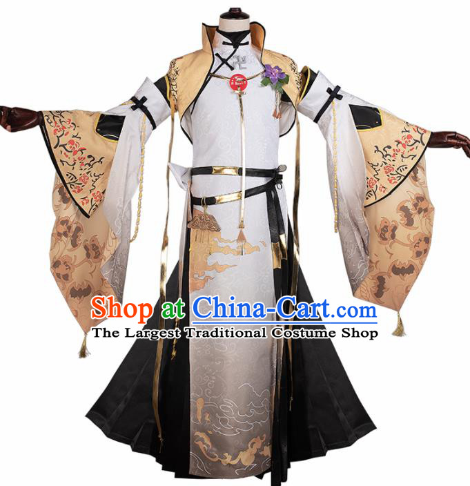 Chinese Cosplay Swordsman Hanfu Clothing Traditional Ancient Prince Costume for Men