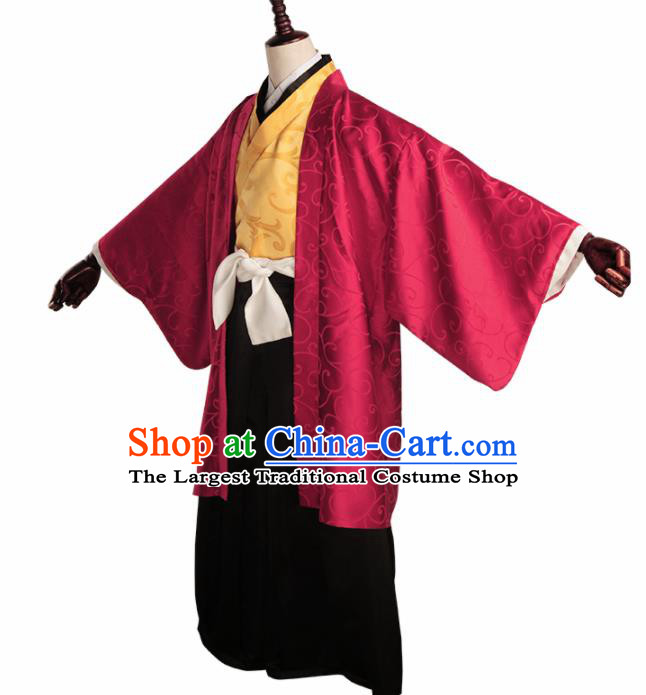 Japanese Cosplay Knight Kimono Traditional Ancient Swordsman Costume for Men