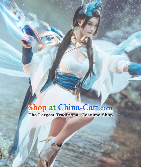Chinese Cosplay Game Swordswoman Dress Traditional Ancient Female Knight Costume for Women