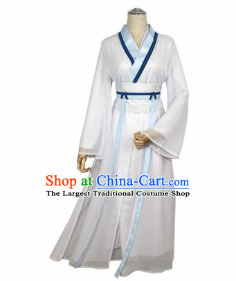 Chinese Cosplay Drama Madam White Snake Dress Traditional Ancient Swordsman Costume for Women