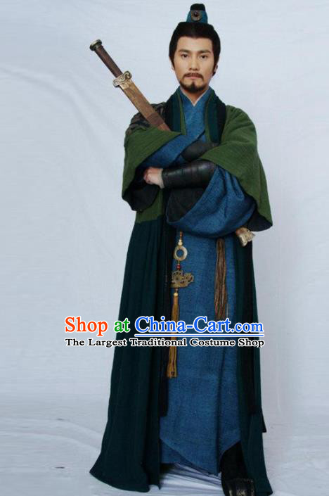 Chinese Traditional Han Dynasty Swordsman Costume Ancient Wu Xia Drama Hanfu Clothing for Men
