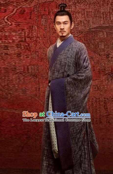 Chinese Traditional Han Dynasty Scholar Costume Ancient Drama Swordsman Hanfu Clothing for Men