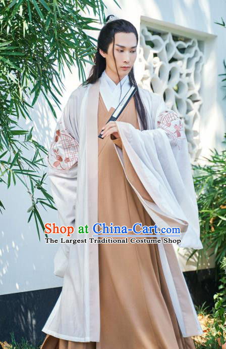 Chinese Ancient Nobility Childe Embroidered Hanfu Clothing Traditional Jin Dynasty Prince Costumes for Women