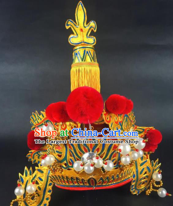Chinese Traditional Beijing Opera God Takefu Hat Ancient Prime Minister Headwear