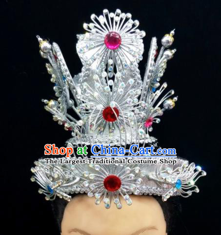 Chinese Traditional Peking Opera Scholar Hat Handmade Ancient Crown Prince Headwear for Men
