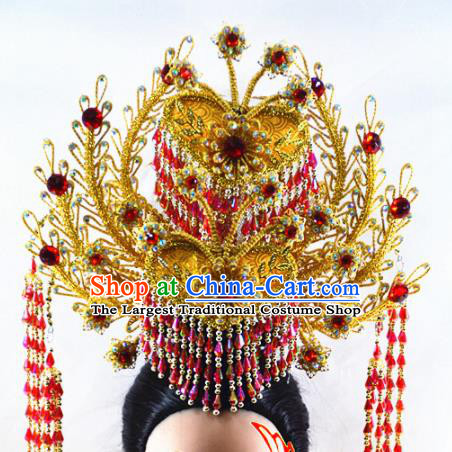 Chinese Traditional Peking Opera Phoenix Coronet Handmade Beijing Opera Diva Hair Accessories for Women