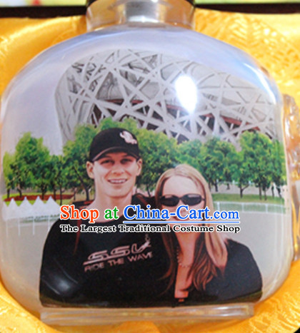 Custom Made Snuff Bottle Paint Snuff Bottles with Family Photos Personal Photo