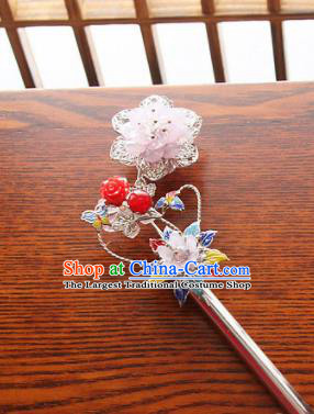 Korean Traditional Court Pink Hairpins Asian Korea Fashion Wedding Hair Accessories for Women