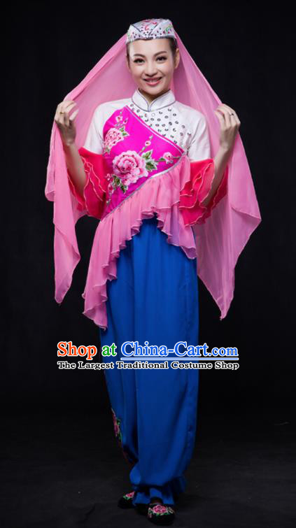 Chinese Traditional Hui Nationality Outfits Ethnic Minority Folk Dance Stage Show Costume for Women