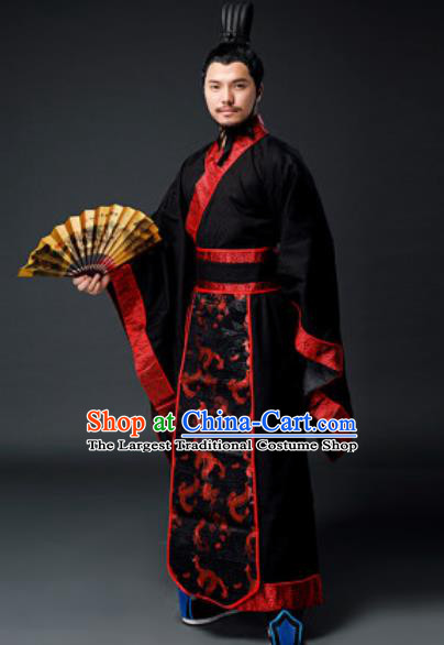 Traditional Chinese Han Dynasty Minister Clothing Ancient Drama Royal King Costume for Men