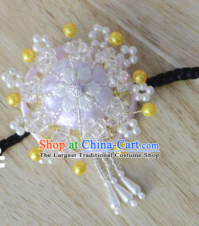 Korean Traditional Court Bride Beads Pink Hairband Asian Korea Fashion Wedding Hair Accessories for Women