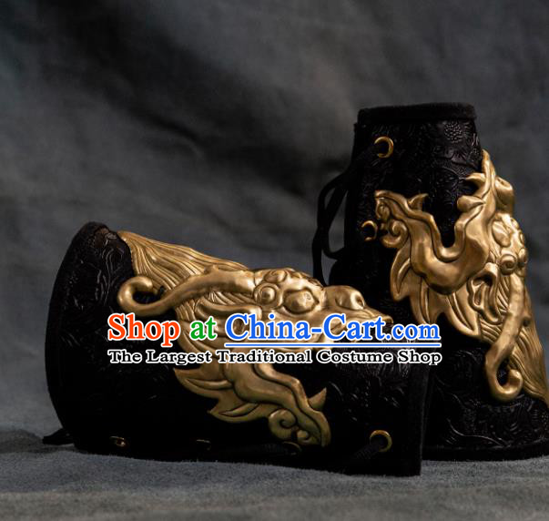 Chinese Traditional Song Dynasty Swordsman Armband Ancient Imperial Bodyguard Gardebras for Men