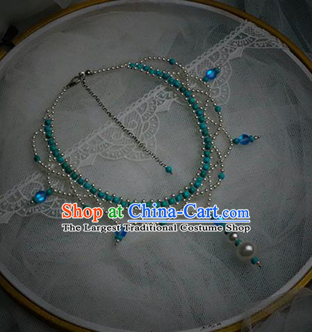 Chinese Traditional National Necklace Handmade Hanfu Necklet Accessories for Women