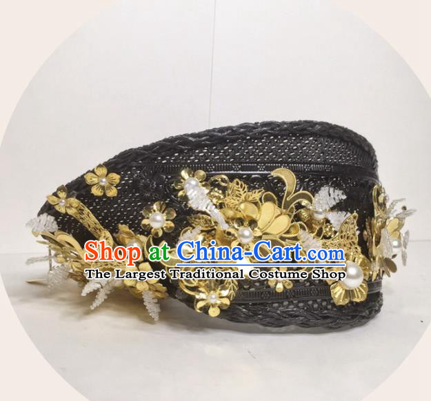 Chinese Handmade Qing Dynasty Court Queen Hat Phoenix Coronet Hat Ancient Empress Hair Accessories for Women