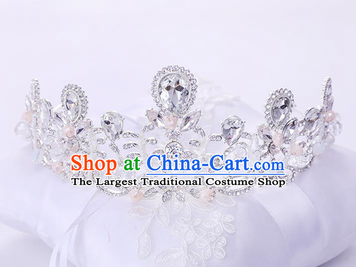 Top Handmade Wedding Bride Royal Crown Baroque Princess Hair Accessories for Women