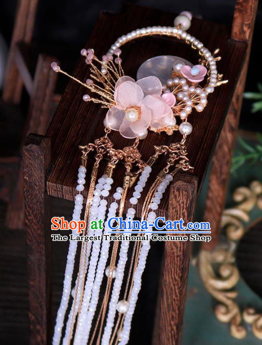 Chinese Traditional Ming Dynasty Princess Waist Accessories Handmade Ancient Belt Tassel Pendant for Women