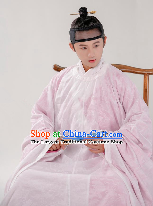 Traditional Chinese Ming Dynasty Taoist Hanfu Robe Ancient Scholar Historical Costumes for Men