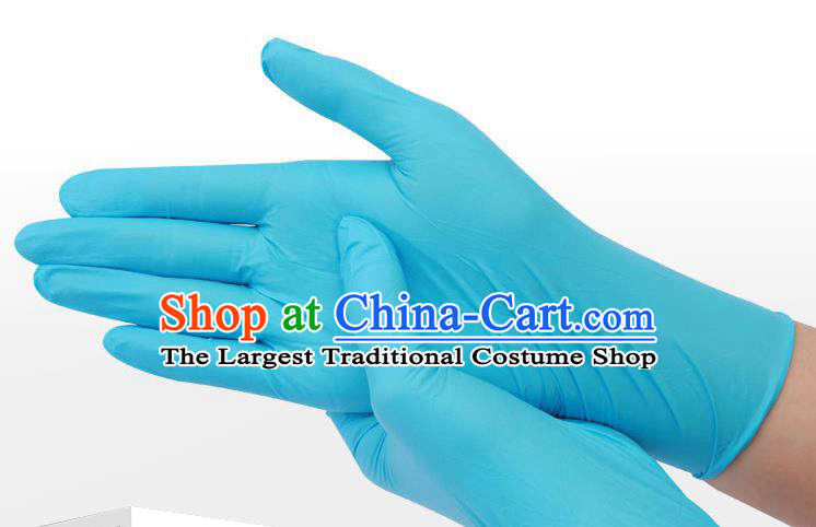 Made In China Disposable Blue Rubber Gloves to Avoid Coronavirus Medical Latex Gloves 100 items