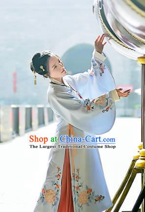 Chinese Ancient Imperial Consort Embroidered Blouse and Skirt Traditional Ming Dynasty Royal Countess Costumes for Women