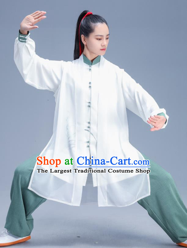 Chinese Traditional Kung Fu Competition Printing Orchid Garment Outfits Martial Arts Stage Show Costumes for Women