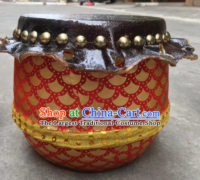 Chinese Lion Dance Cowhide Golden Drum Traditional Lion Dance Musical lnstruments Drum