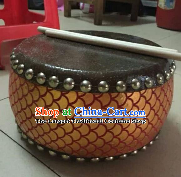 Chinese Lion Dance Red Tupan Cowhide Drum Traditional Lion Dance Musical lnstruments Drum