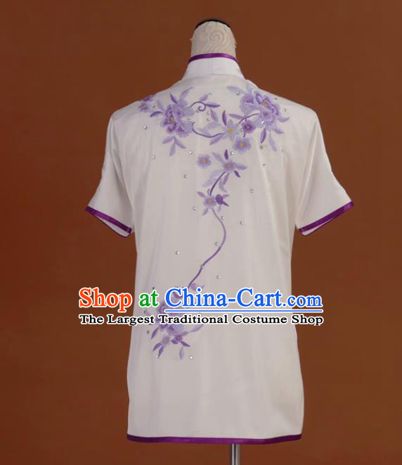 Chinese Tai Chi Embroidered Garment Outfits Traditional Kung Fu Martial Arts Training Costumes for Women